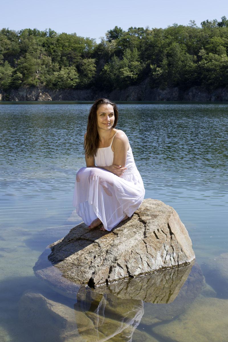 víla u vody portrétní foto