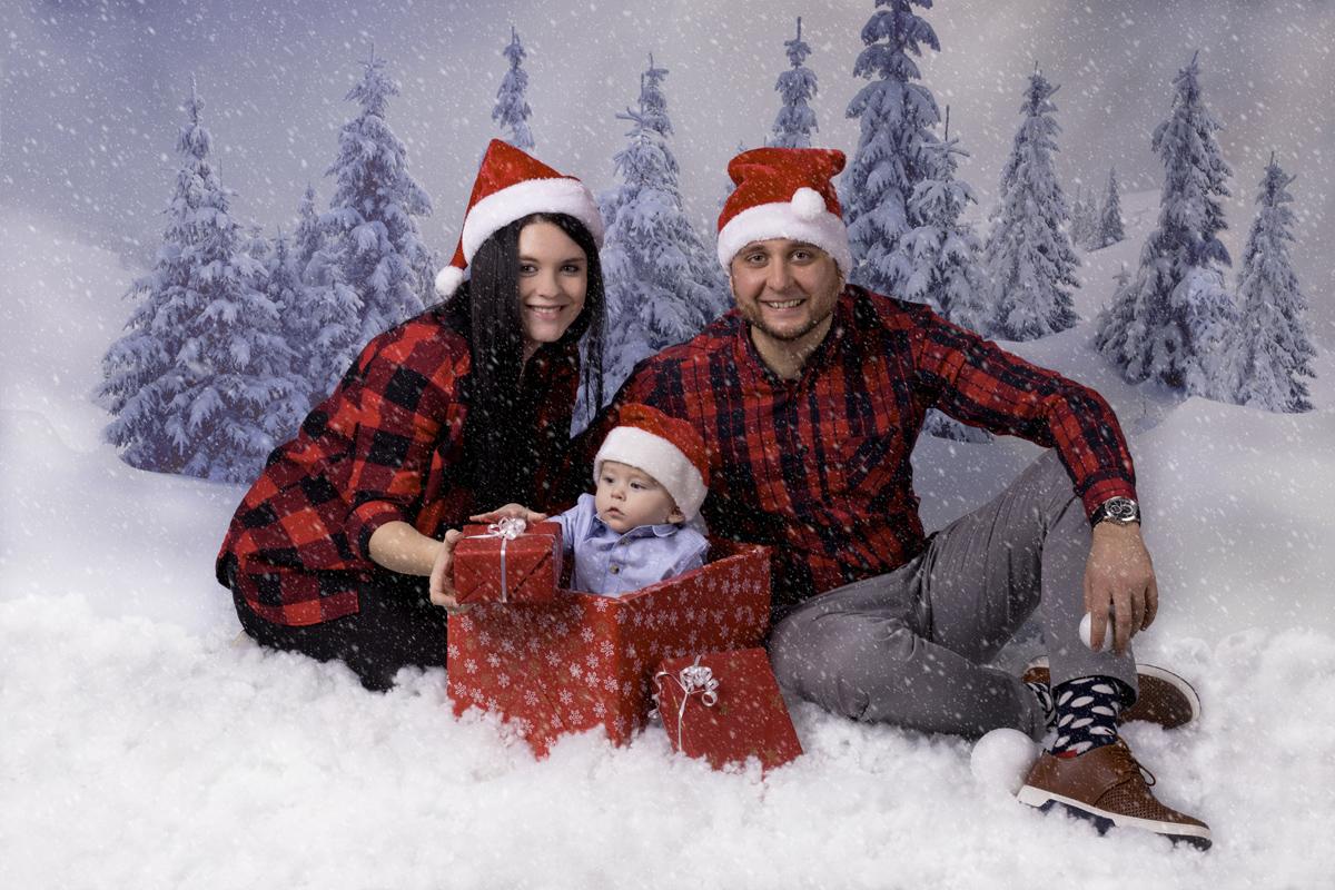 Rodinné foto vánoční