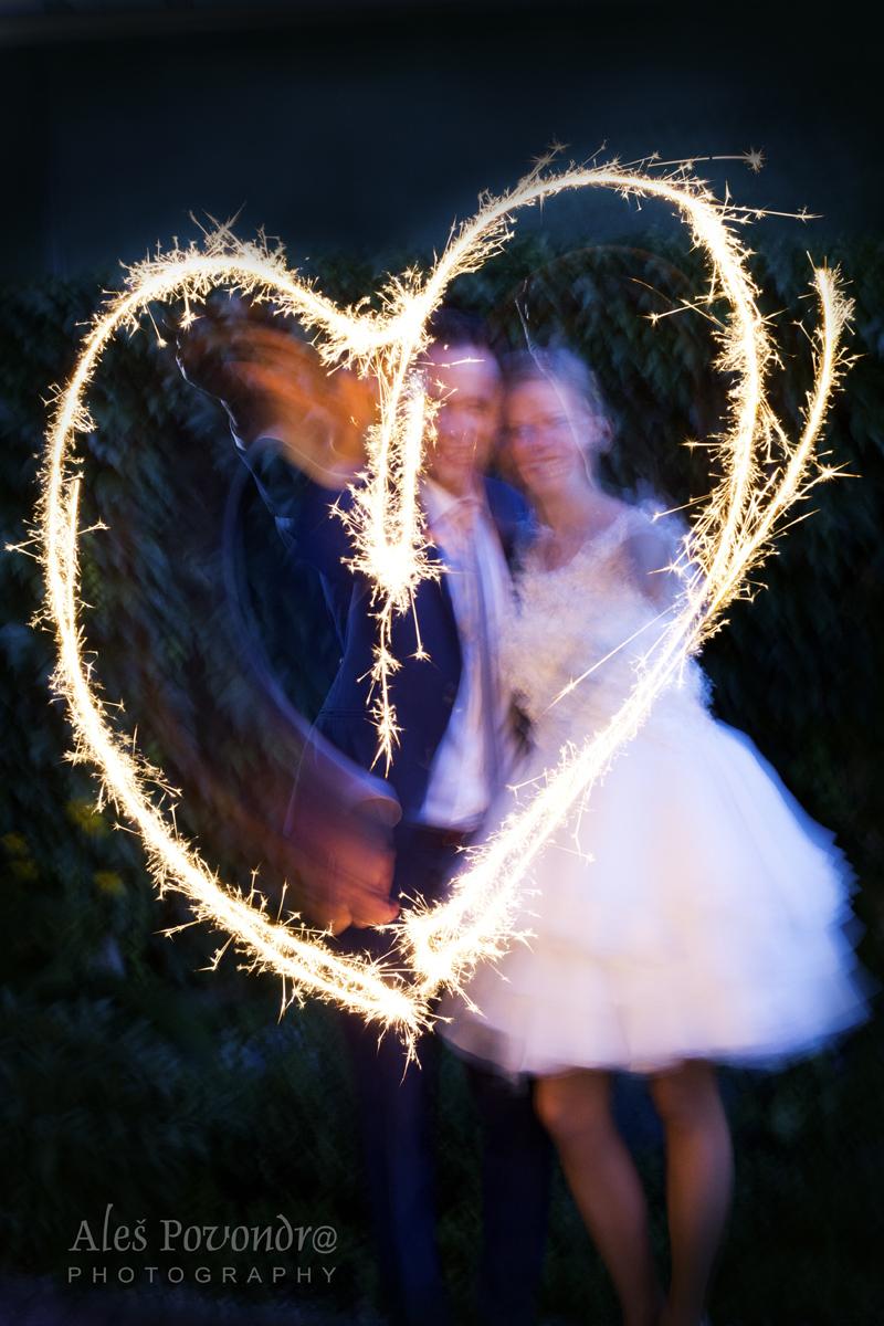 Svatební foto srdce